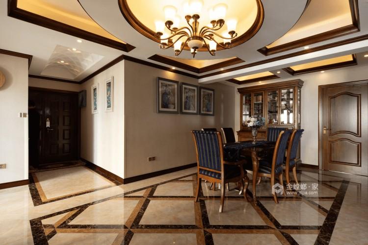 140平丽丰一品美式风格-浪漫不羁的美式-餐厅效果图及设计说明