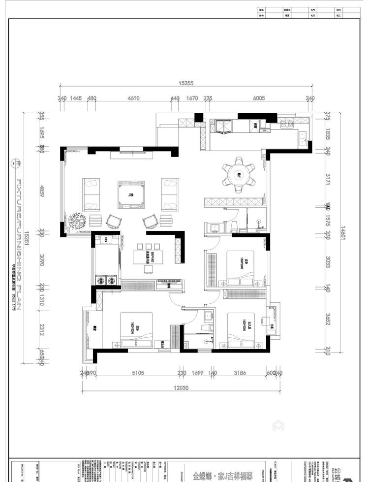 172平吉祥府邸美式风格-平面设计图及设计说明