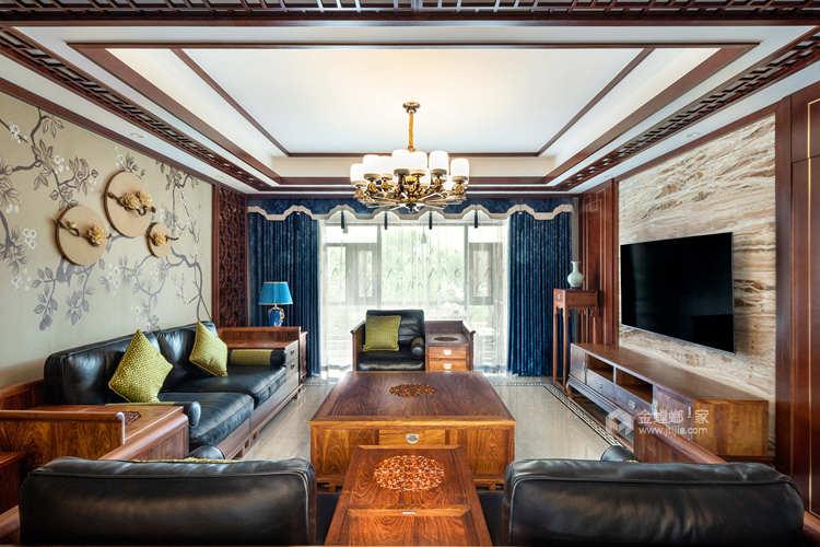 240平丽丰一品中式风格-光阴潺流水,云深不知处-客厅效果图及设计说明