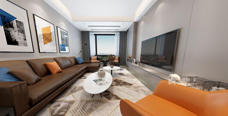 110平君悦湾现代风格-客厅效果图及设计说明