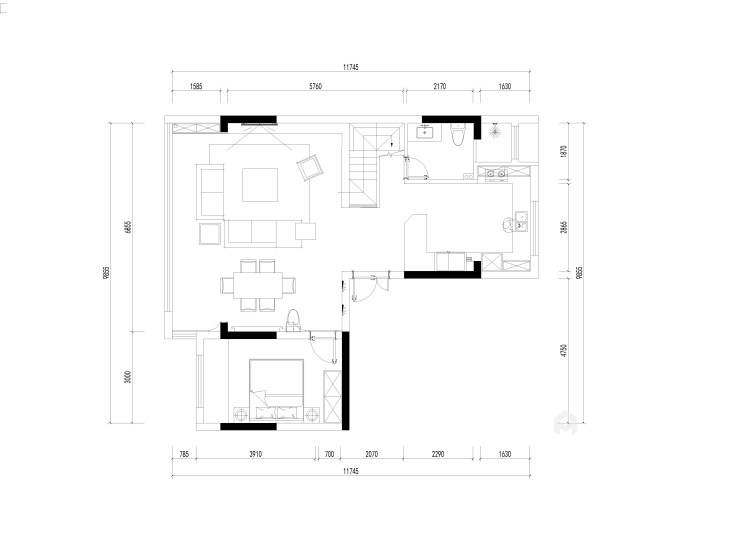 180平南山楠现代风格-沁人心脾的清新绿-平面设计图及设计说明