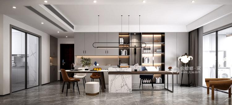 115平建发泱誉现代风格-独一无二的享受-客厅效果图及设计说明