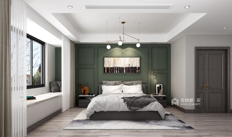 180平南山楠现代风格-沁人心脾的清新绿-卧室效果图及设计说明