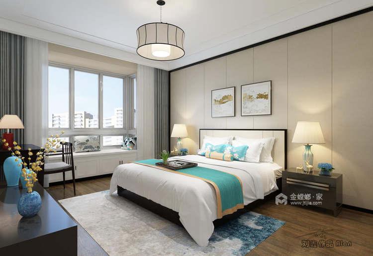 135平皖新文化广场新中式风格-浮光掠影-卧室效果图及设计说明