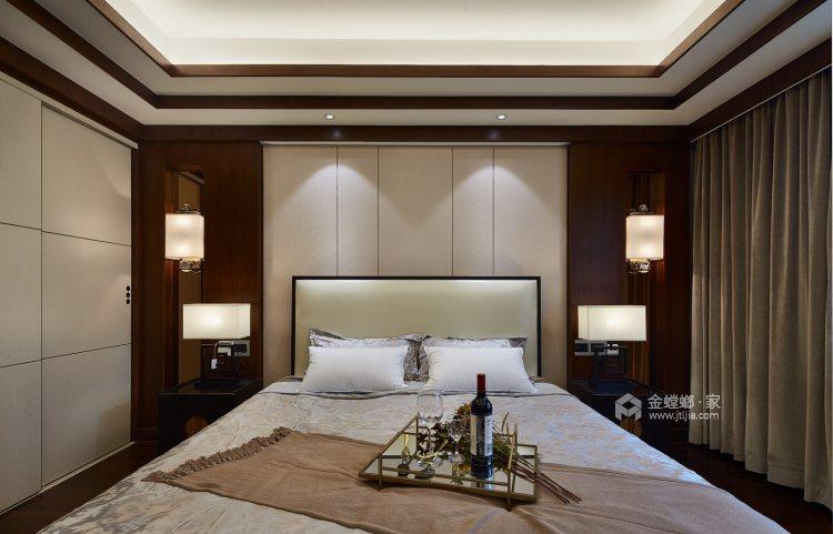 165平御景城新中式风格-闲居雅趣-卧室效果图及设计说明