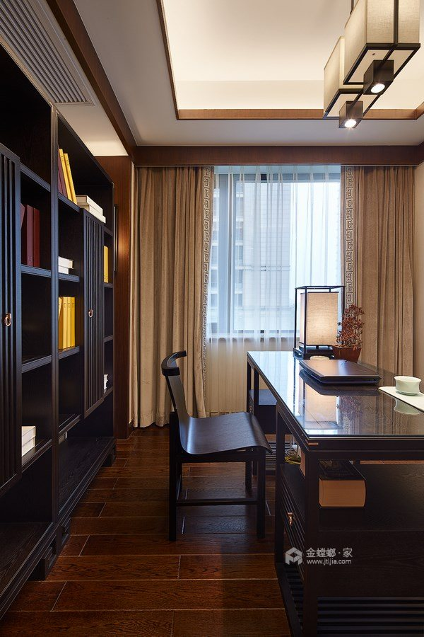 165平御景城新中式风格-闲居雅趣-平面设计图及设计说明