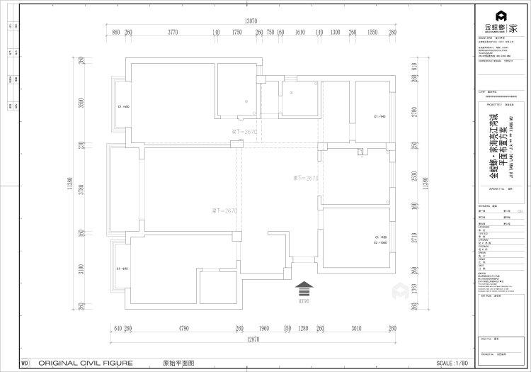 135平皖新文化广场新中式风格-浮光掠影-业主需求&原始结构图