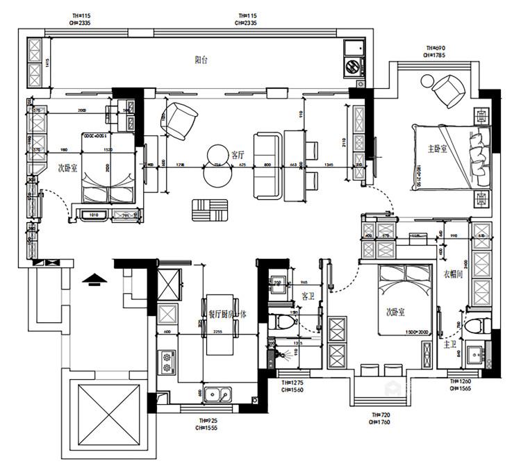135平汀海壹品现代风格-雅韵-平面设计图及设计说明
