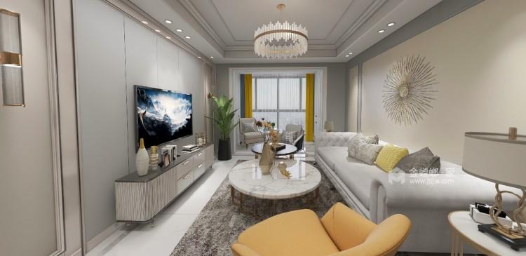 116平紫境府简美风格-客厅效果图及设计说明