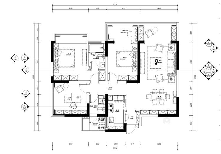116平紫境府简美风格-平面设计图及设计说明