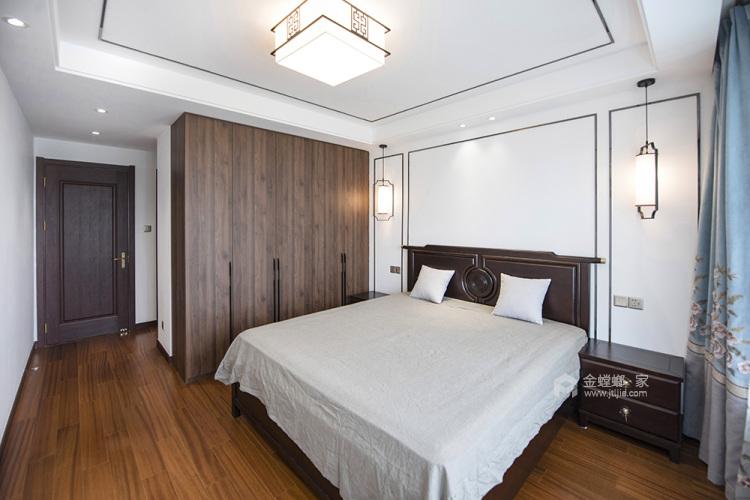 145平弘阳尊邸新中式风格-东篱清雅-卧室效果图及设计说明