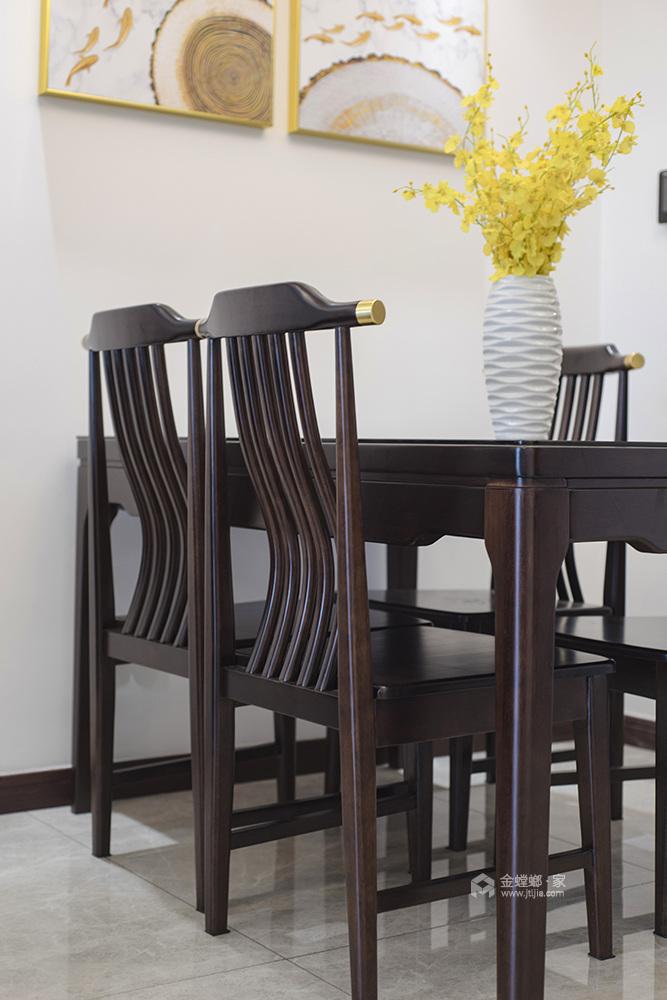 145平弘阳尊邸新中式风格-东篱清雅-餐厅效果图及设计说明
