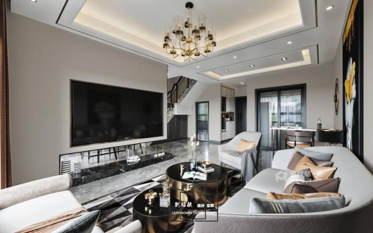 177平花语墅现代风格-品质生活,精致人生-客厅效果图及设计说明