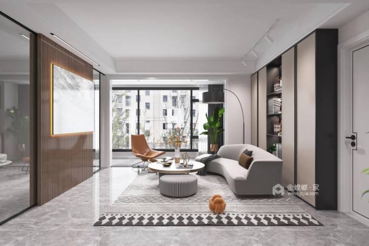 141平观澜别院现代风格-客厅效果图及设计说明