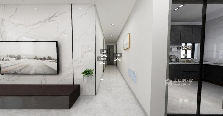 98平南山楠现代风格-心灵安防之所-客厅效果图及设计说明