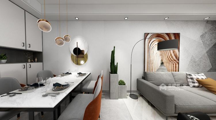 98平南山楠现代风格-心灵安防之所-餐厅效果图及设计说明