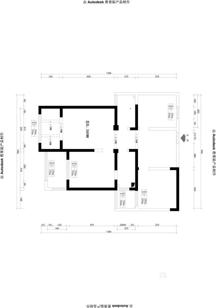 101平莱茵城中式风格-摩登-业主需求&原始结构图