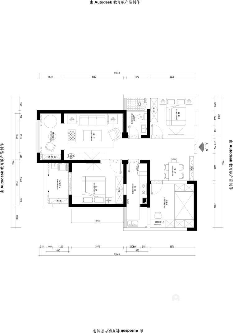 101平莱茵城中式风格-摩登-平面设计图及设计说明