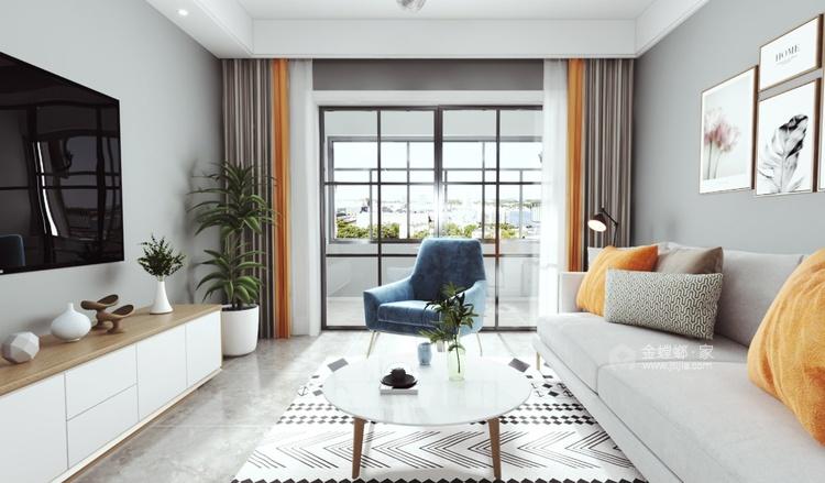 105平三千邑现代风格-简约时尚的设计  让家充满慵懒的舒适全景图封面图