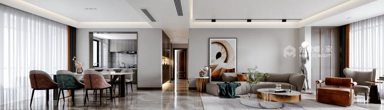 140平橡树湾欧式风格-格调之余~轻奢气质-餐厅效果图及设计说明