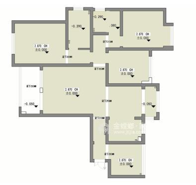 140平橡树湾欧式风格-格调之余~轻奢气质-业主需求&原始结构图