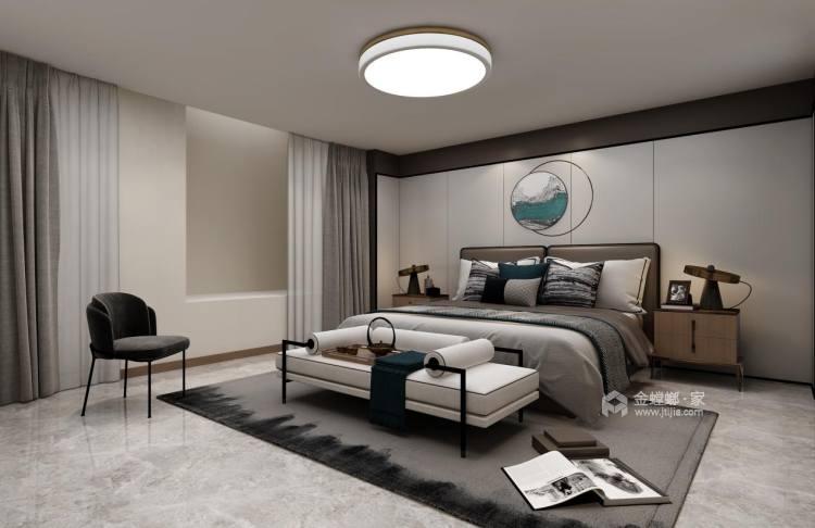 280平中海万锦园新中式风格-流印古意-卧室效果图及设计说明