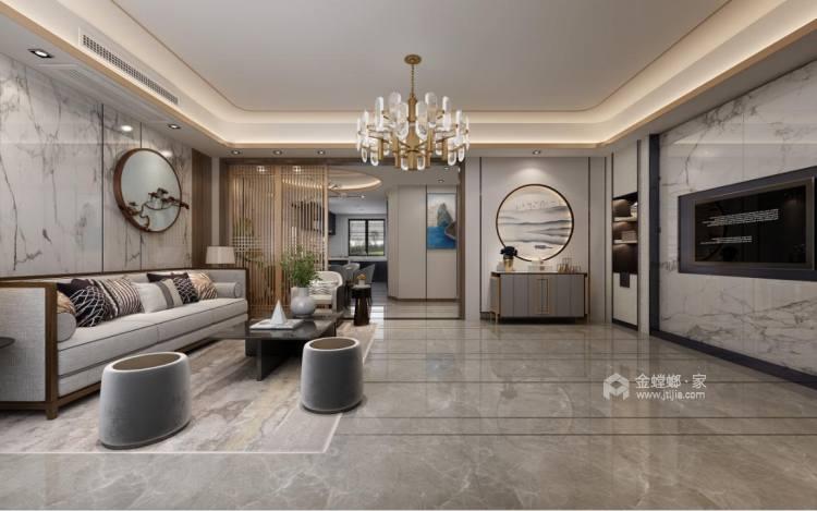280平中海万锦园新中式风格-流印古意-餐厅效果图及设计说明