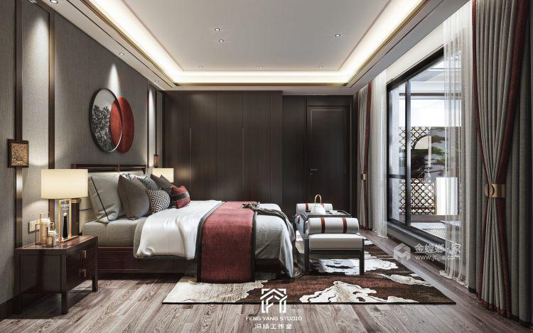 350平梧桐邑新中式风格-诗意东方-卧室效果图及设计说明