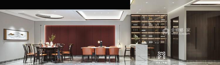 350平梧桐邑新中式风格-诗意东方-餐厅效果图及设计说明