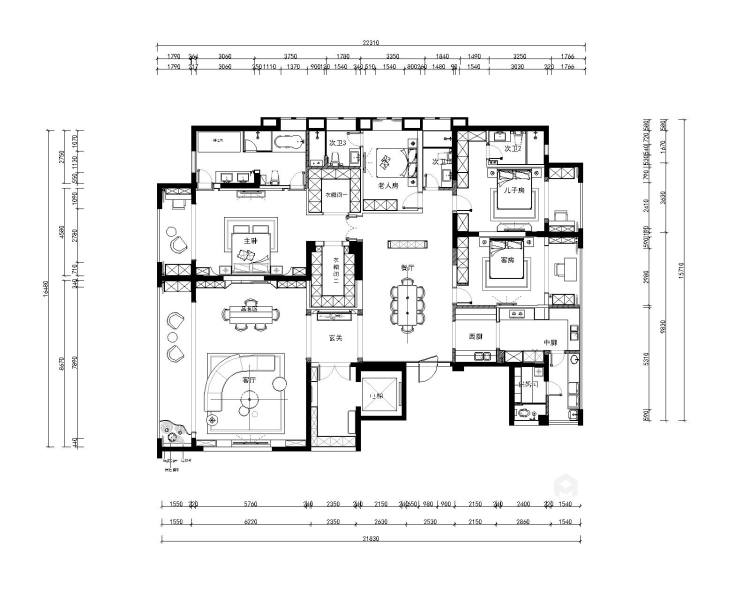 300平保利康桥现代风格-平面设计图及设计说明