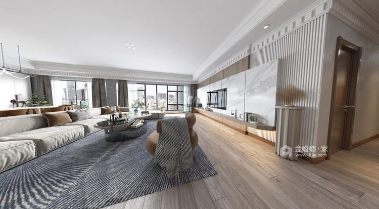300平保利康桥现代风格-客厅效果图及设计说明