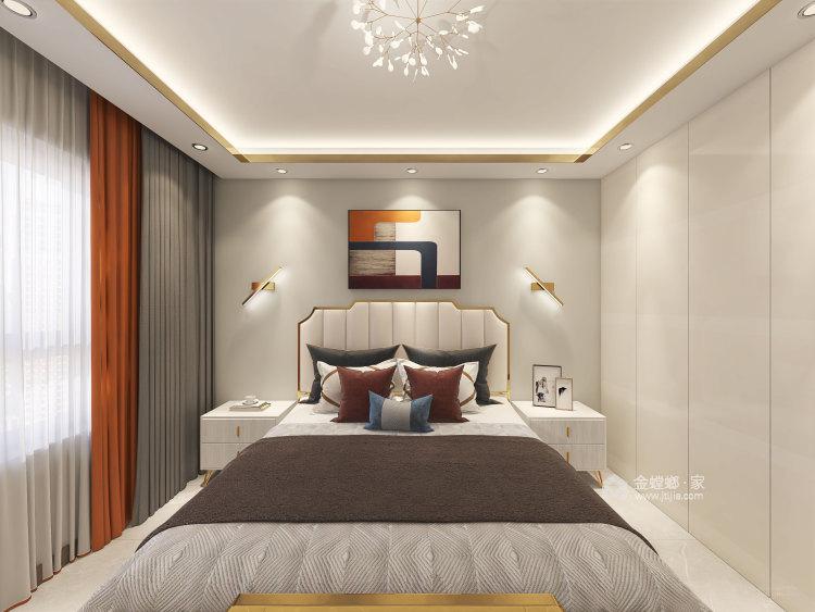 137平华润紫云府现代风格-轻奢初冬气息之美-卧室效果图及设计说明