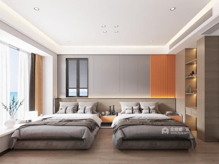 135平日华花园现代风格-珠海超级海景房-卧室效果图及设计说明