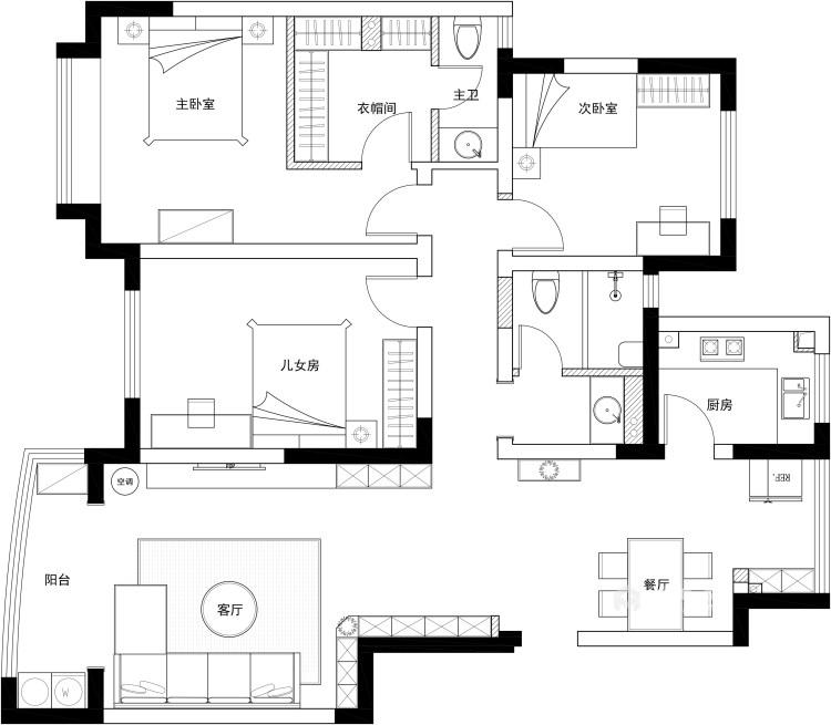 131平皖江雅居现代风格-春天记忆-平面设计图及设计说明