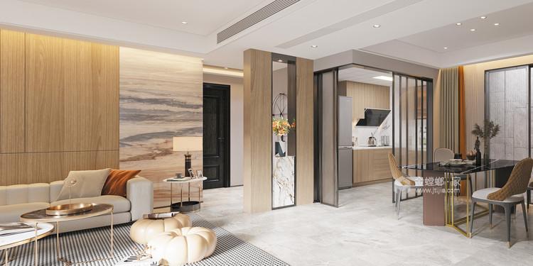 135平日华花园现代风格-珠海超级海景房-餐厅效果图及设计说明