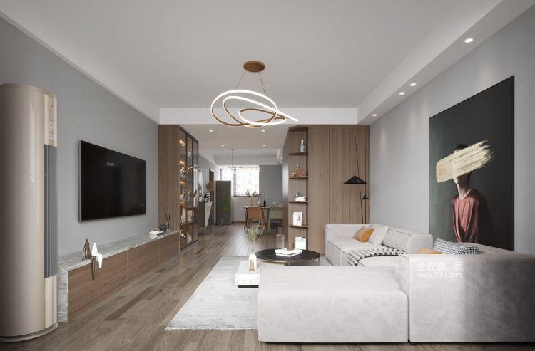 131平皖江雅居现代风格-春天记忆-客厅效果图及设计说明