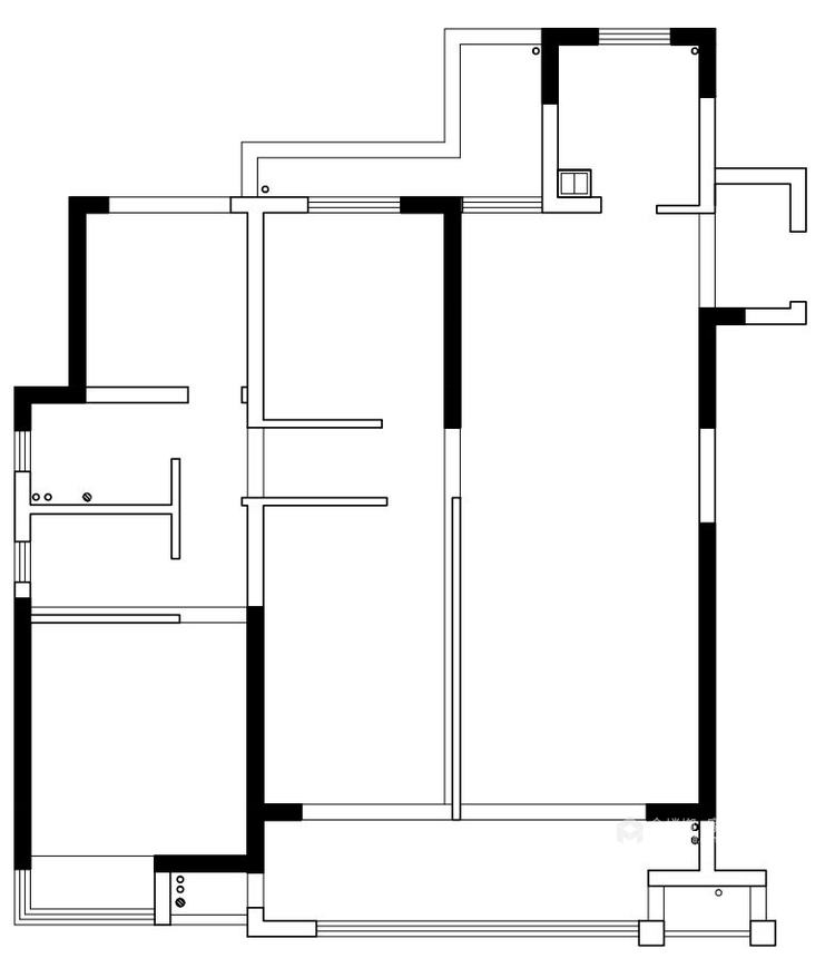 140平中梁1号院现代风格-舒适3口之家-业主需求&原始结构图
