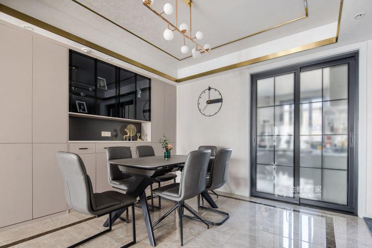 140平中梁1号院现代风格-舒适3口之家-餐厅效果图及设计说明