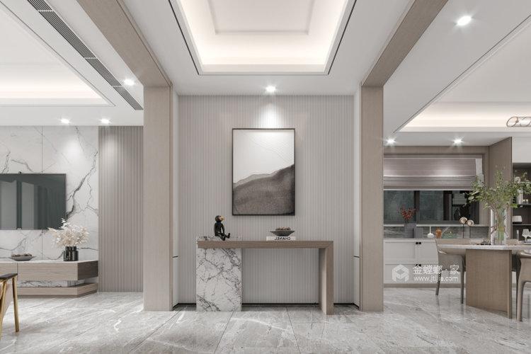 180平金鼎湾状元府现代风格-客厅效果图及设计说明