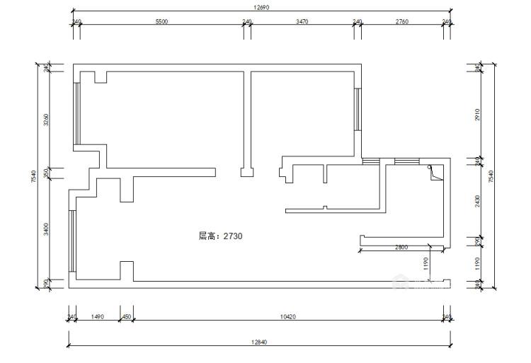 100平金鹰花园现代风格-恰到好处的现代轻奢风-业主需求&原始结构图