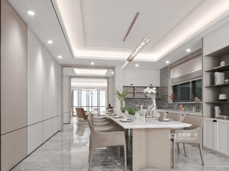 180平金鼎湾状元府现代风格-餐厅效果图及设计说明
