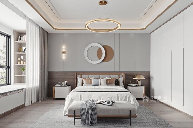 100平金鹰花园现代风格-恰到好处的现代轻奢风-卧室效果图及设计说明