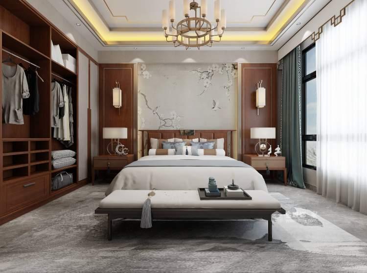 370平聚贤庭院新中式风格-卧室效果图及设计说明