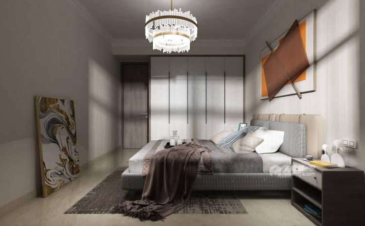 198平建业·公园里现代风-卧室效果图及设计说明