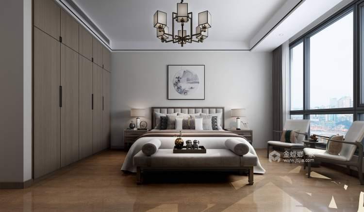 198平建业·公园里新中式风格-卧室效果图及设计说明
