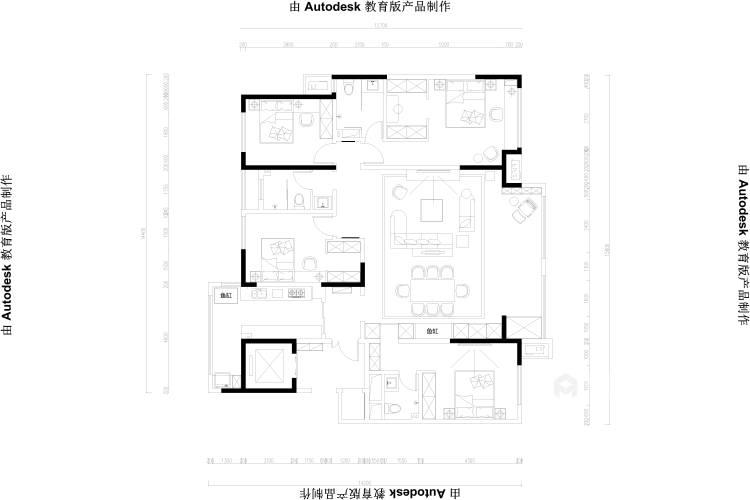 198平建业·公园里新中式风格-平面设计图及设计说明