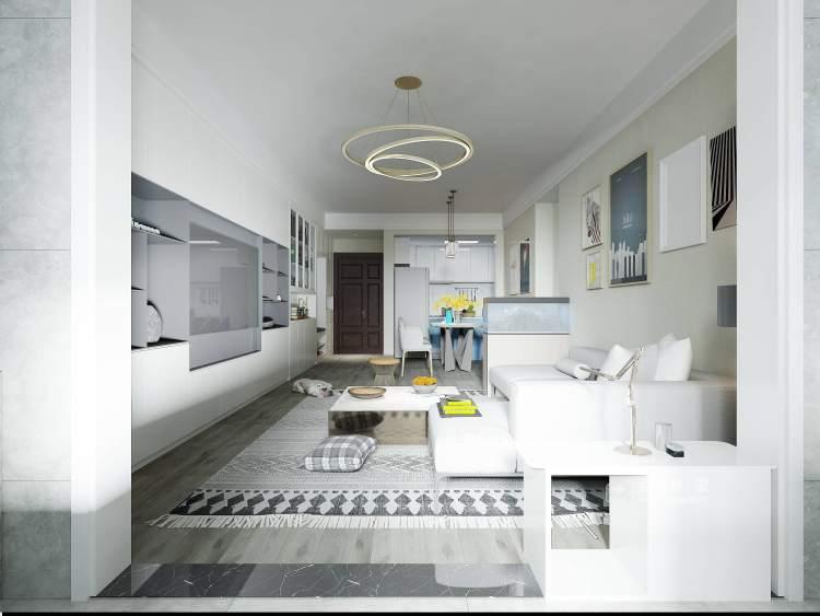 118平建业·公园里现代风格-客厅效果图及设计说明