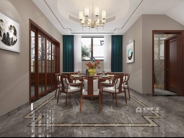 370平聚贤庭院新中式风格-餐厅效果图及设计说明