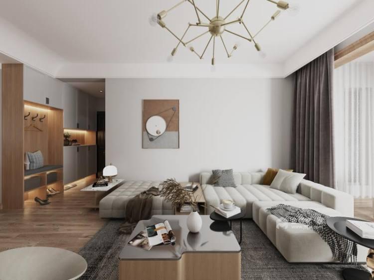 136平建业森林半岛现代风格-客厅效果图及设计说明