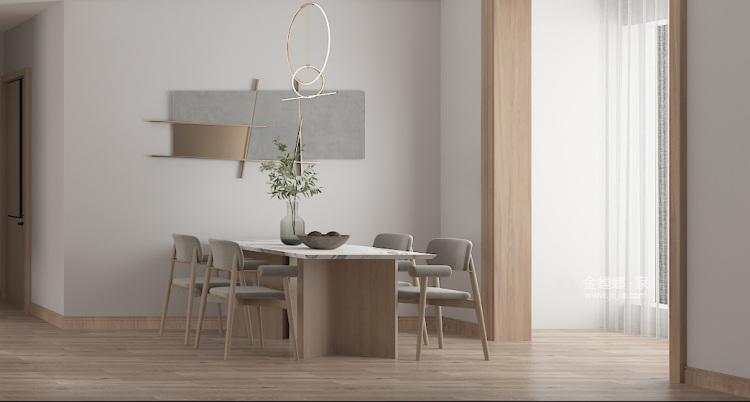 136平建业森林半岛现代风格-餐厅效果图及设计说明